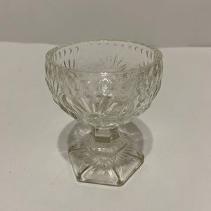 3 for $20 Vintage Crystal Footed Glass Sorbet Cup